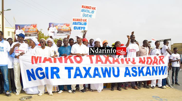 Le film de la marche de Manko à Saint-Louis ( vidéo - photos )