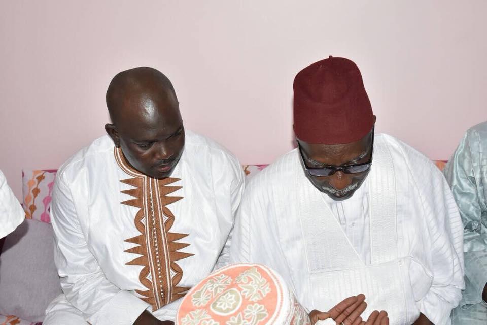 TIVAOUNE: Faly SECK recueille les prières de Serigne Mbaye SY Mansour