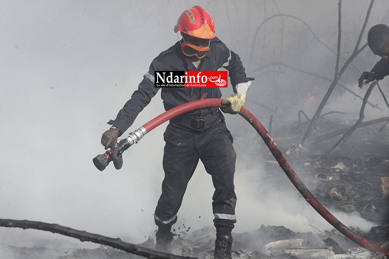 Violent incendie à DAROU : des abeilles attaquent, les sapeurs ripostent ( vidéo&photos )