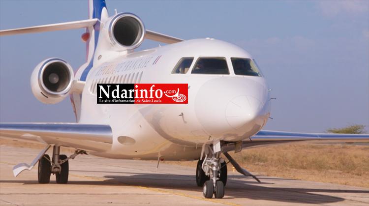 Saint-Louis : l'avion de MACRON toujours le tarmac