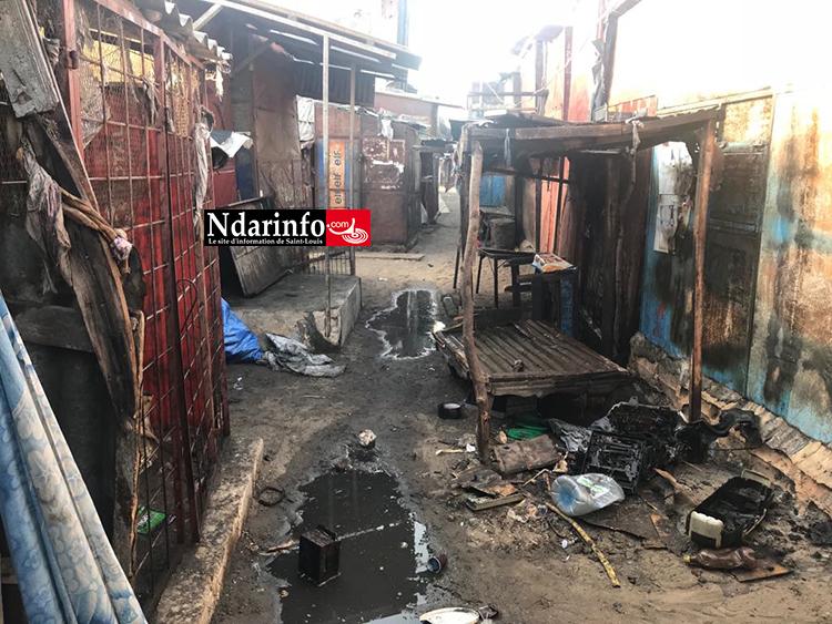 Incendie au marché « Pikine » : trois cantines consumées par les flammes ( photos )