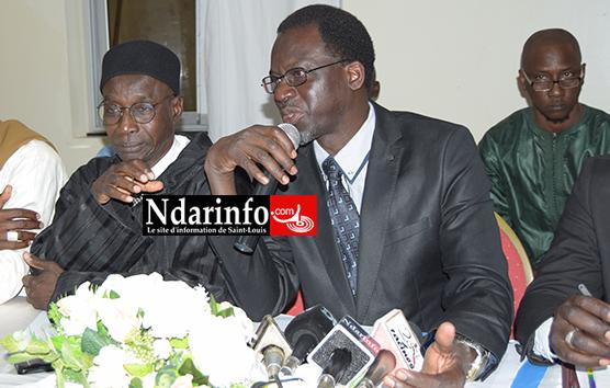 Moustapha DIOUF, coordonnateur du FDRSN avec le Docteur Abdoulaye NDOYE, membre de cette mouvance
