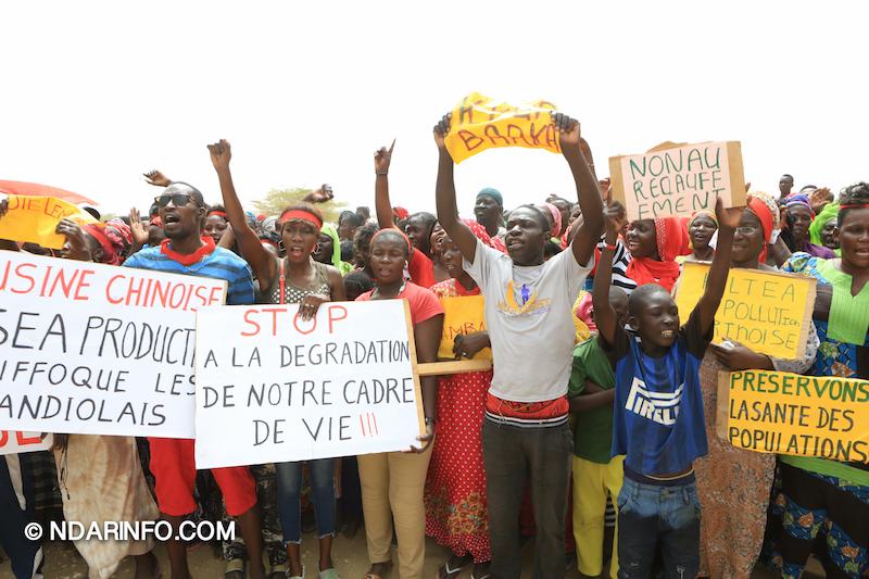Marche d'indignation des victimes de l'usine chinoise de Mbambara ( vidéo-Photos )