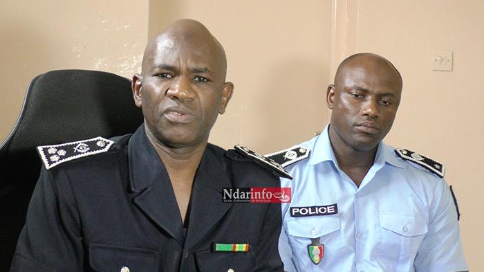 Le Central El Hadji Bécaye DIARRA et le commissaire de l'arrondissement de l'ile Ousmane FALL
