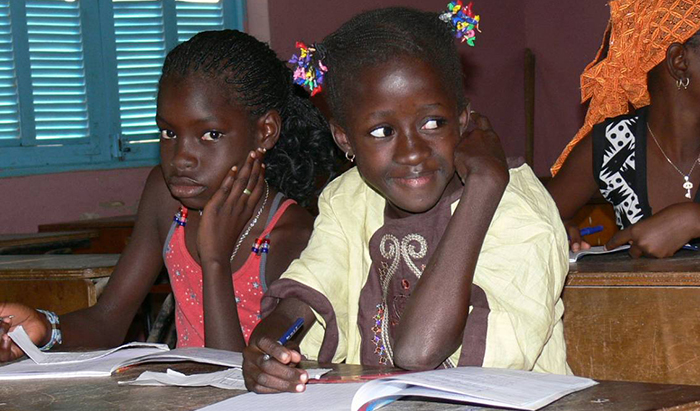Des élèves de l'école Boly DIAW
