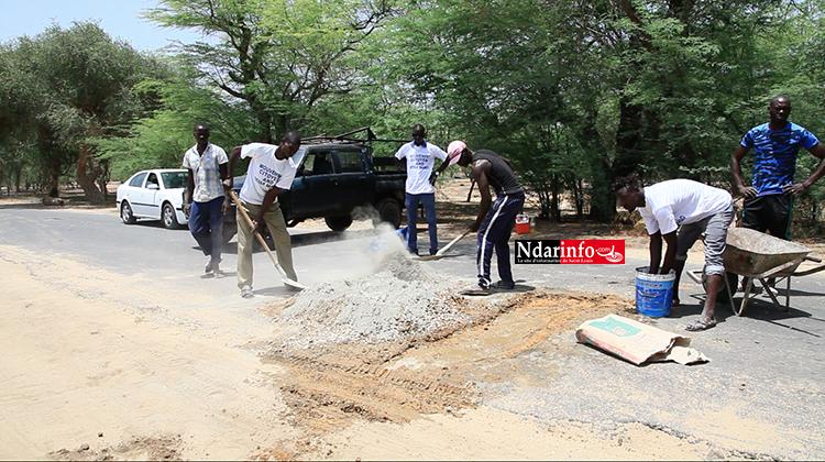 Dégradation avancée de la route de BANGO : avec de maigres moyens, une initiative citoyenne engage la réfection (vidéo)