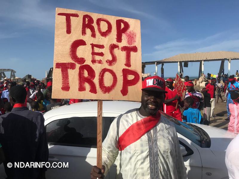 Saint-Louis : les premières images de la marche des pêcheurs (photos)