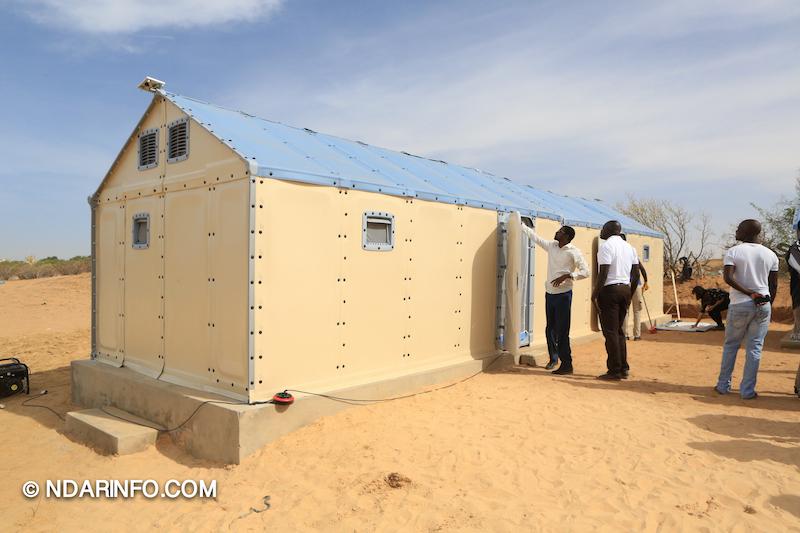 Les unités mobiles d'habitation présentées aux sinistrés de Khar Yalla (vidéo)