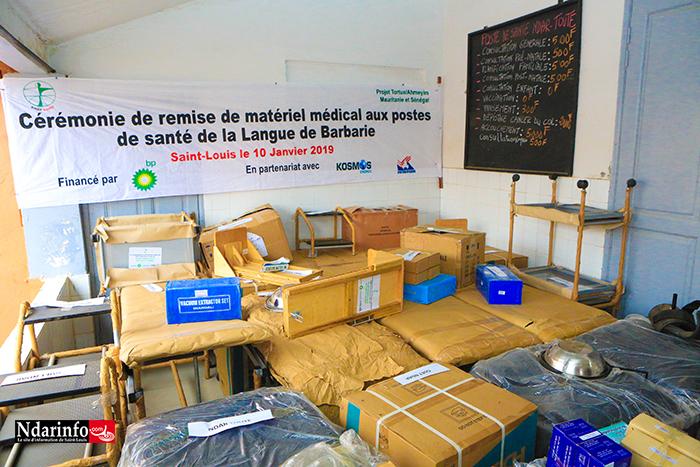 Saint-Louis : BP relève le plateau sanitaire des postes de la Langue de Barbarie (photos)