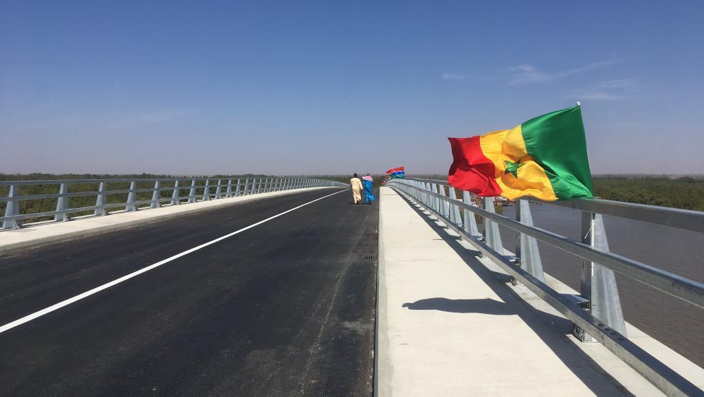 Le nouveau pont entre le Sénégal et la Gambie a été inauguré, ce lundi 21 janvier 2019. © Guillaume Thibault/RFI