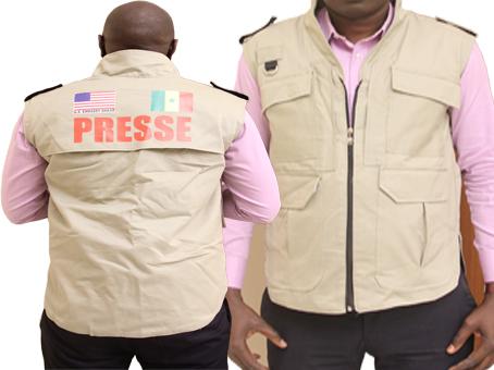 Présidentielle : Les autorités interdisent la distribution des gilets offerts aux journalistes par l'ambassade des USA