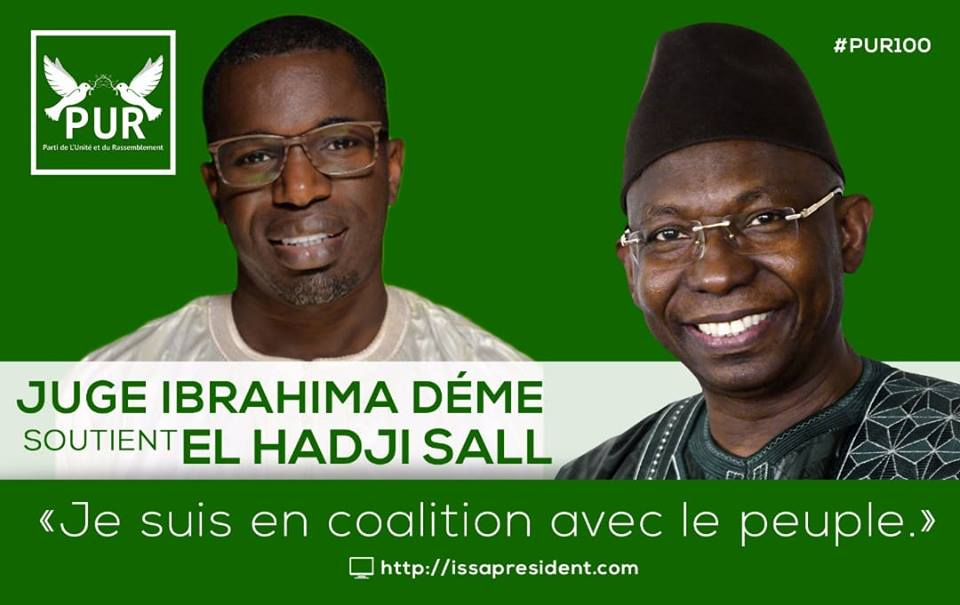 Le magistrat Ibrahima Hamidou DEME rejoint le pur
