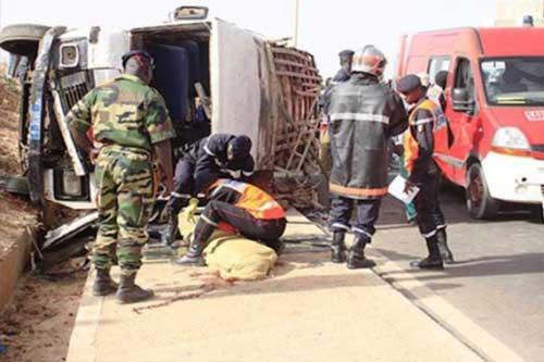 Kaolack : Un bus se renverse et fait 5 morts