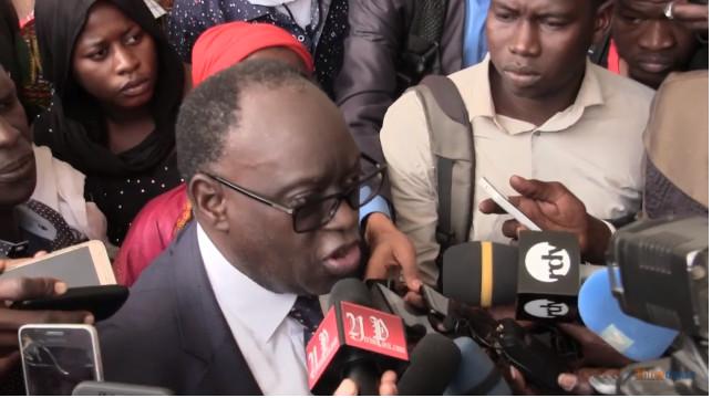 Même à la levée du corps de Dansokho, Me El Hadji Diouf attaque Sonko