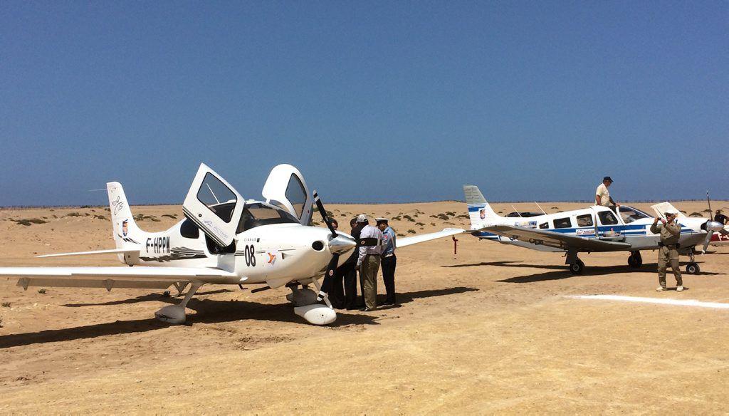 Chaque année, ce rallye aérien — le plus long du monde — propose au pilote un aller-retour entre Toulouse et Saint-Louis au Sénégal./ Photo DR, RTSL.