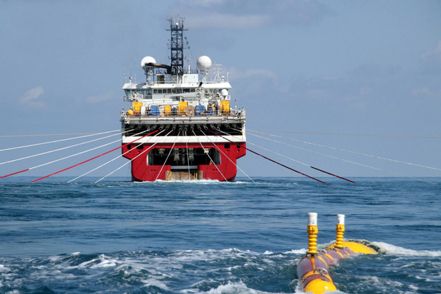 Pétrole et gaz : Un navire de sismique prend feu [Document]