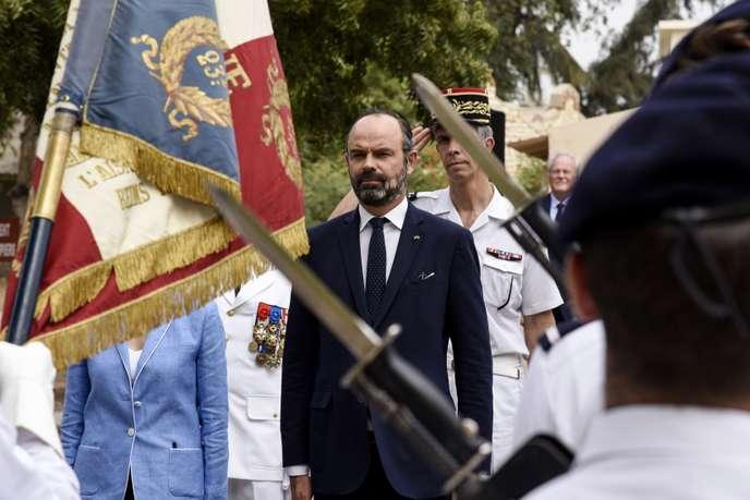 Le premier ministre français, Edouard Philippe, à Dakar, lundi 18 novembre 2019. SEYLLOU / AFP