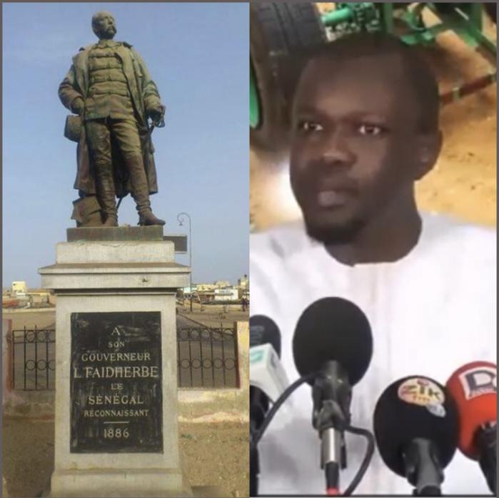 Déboulonnement de la statue de Faidherbe : « Il faut nous défaire de cette colonisation mentale » (Ousmane Sonko)