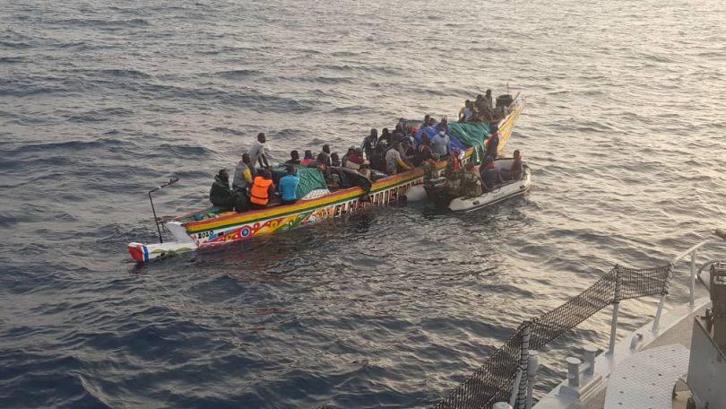 Deux pirogues de migrants clandestins interceptées ce vendredi