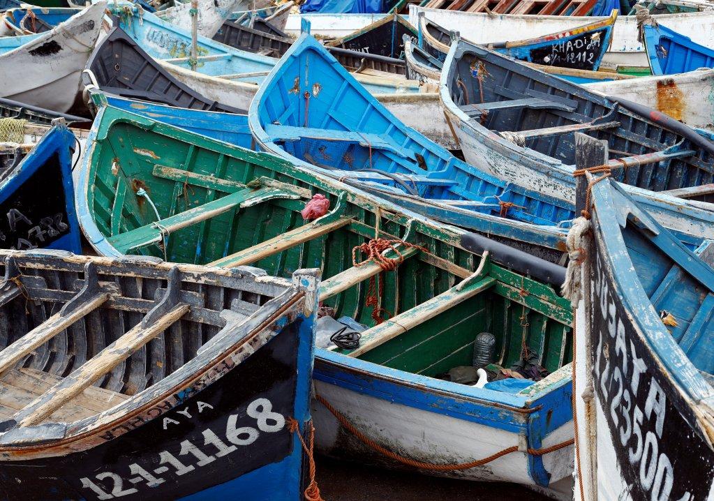 Des bateaux utilisés par les migrants pour rejoindre les îles Canaries. Crédit : Reuters