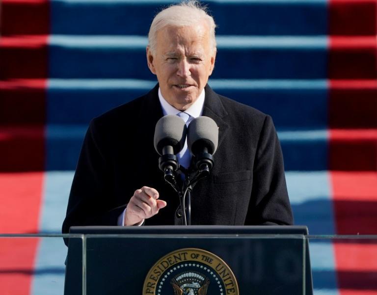 Etats-Unis: intégralité du discours d'investiture de Joe Biden