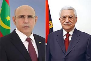 Entretien téléphonique entre Ghazouani et le Président de l'Autorité palestinienne