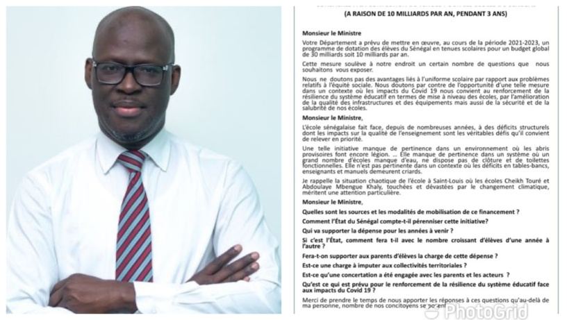 30 milliards pour les tenues scolaires : Cheikh Bamba DIEYE adresse une question écrite au ministère de l'Education nationale