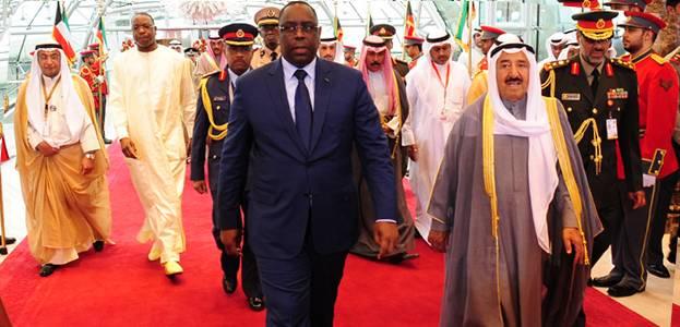 Macky Sall est arrivé à Koweit City