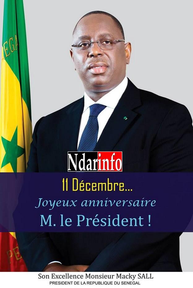 11 décembre 2013: Joyeux anniversaire au Président Macky Sall !