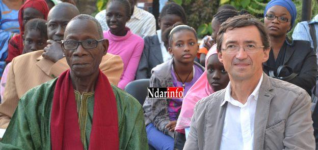 Alioune Badara Coulibaly, président du CEPS et Thierry Dessolas, directeur de l'Institut Français.