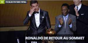 Cristiano Ronaldo, sacré ballon d'or