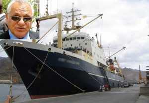 Le navire Oleg Naidenov libéré après paiement d'une amende de 400 millions de francs (ministre)