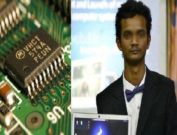 Un jeune indien invente l'ordinateur du futur, qui fonctionne avec une simple puce.