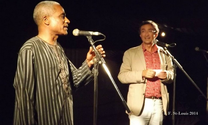Charles CAMARA sur le podium de l'Institut Français avec Thierry Dessolas