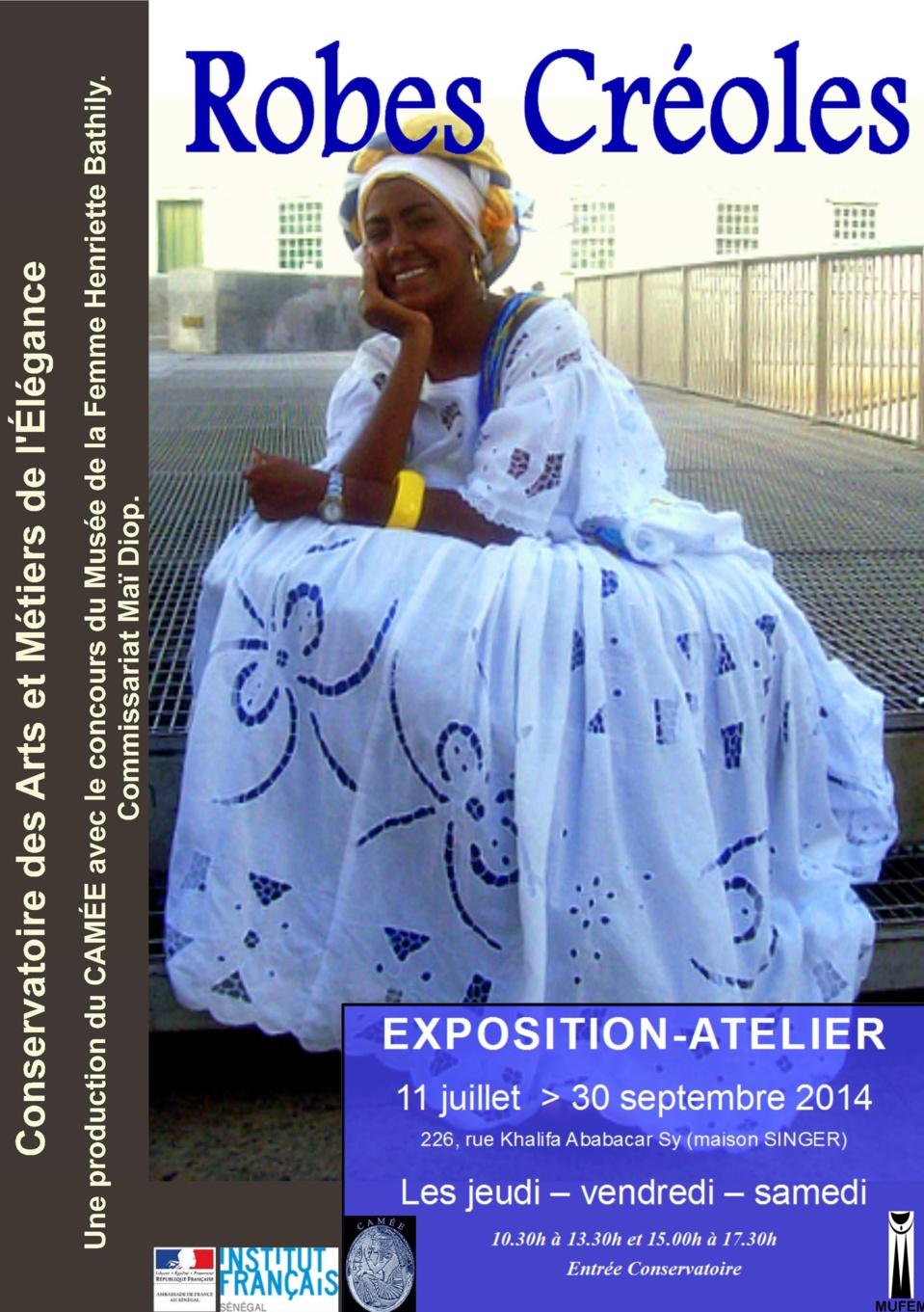 Exposition au CAMÉE : Robes Créoles à Saint-Louis.