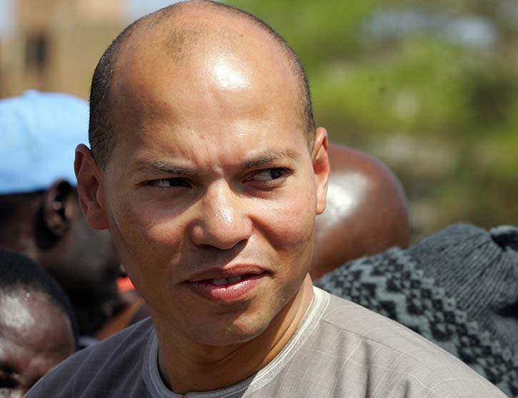 Arrivée de Karim Wade au Palais de Justice de Dakar.