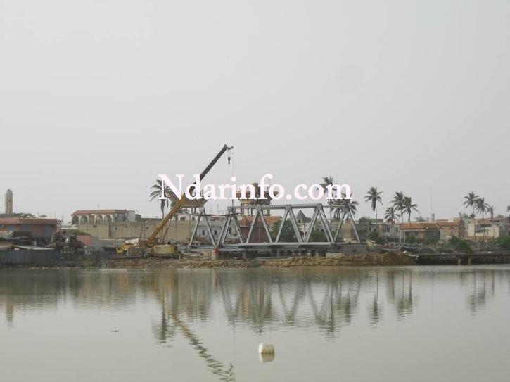 Saint-Louis: Bon déroulement des travaux du pont Masseck NDIAYE ex Goele ( photos)