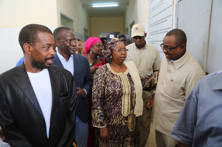 Panique à l'Ebola: Eva Marie Coll Seck s'est rendue à Matam, ce matin (photos)
