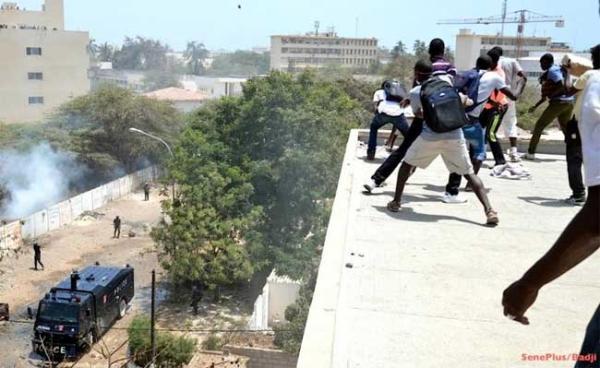 UCAD : des étudiants grévistes dispersés par les forces de l'ordre
