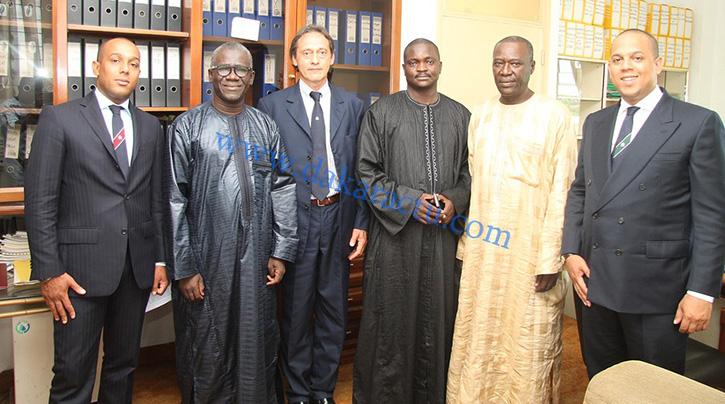 Antonio Zeno, président de Zeno Group Investments en compagnie de Cheikh GAYE, secretaire général de la SIcap