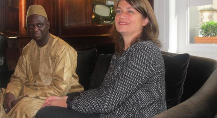 Mansour Faye et Marie-Pierre Bresson.