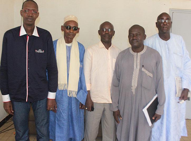 Des membres de la CCR, à la Gouvernance de Saint-Louis