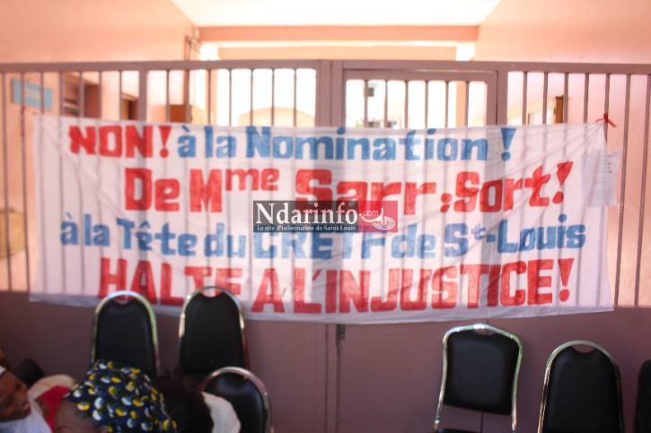 SIT- IN AU CRETEF DE SAINT-LOUIS : des travailleurs bloquent l'installation d'une nouvelle directrice.