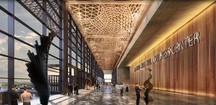Le Centre de conférence de Dakar