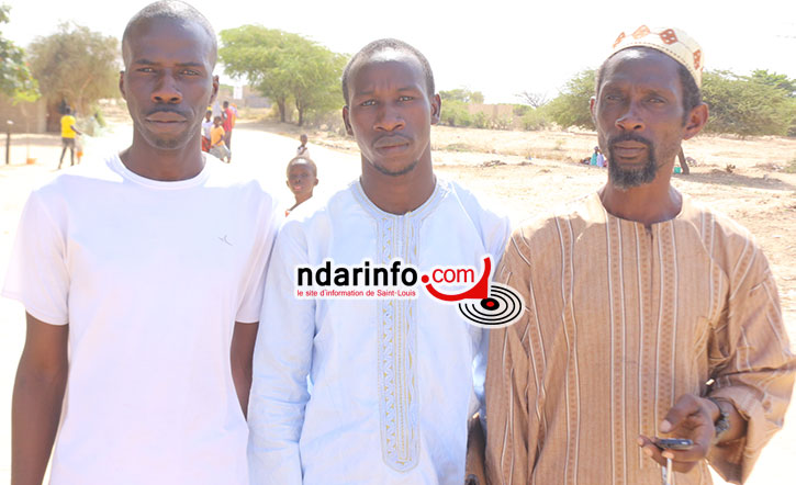 De gauche à droite: Moussa NIANG, Bathie KA et El Hadji Ameth Sène DIAGNE