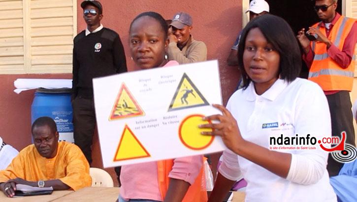 Reine NOUMBA, Chargée Sécurité et Aby SONKO, responsable Genre et Développement au Groupement RAZEL-SOGEA SATOM