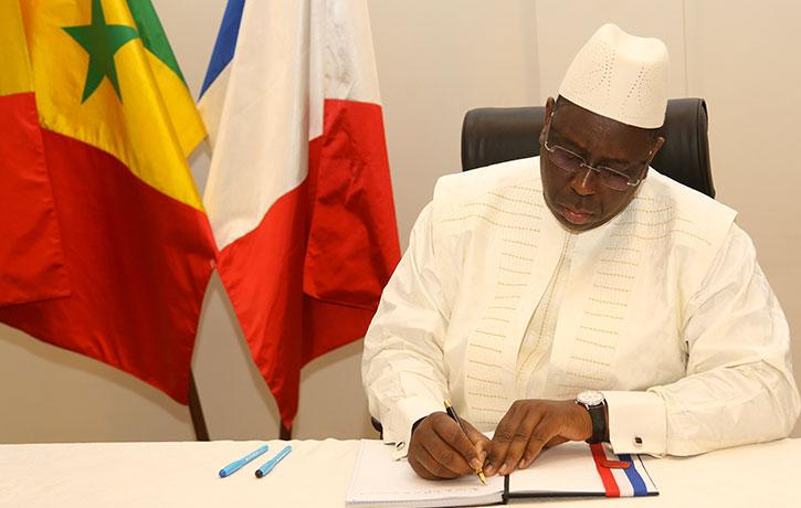 """MACKY SALL: """" le Sénégal, par ma voix, réaffirme sa détermination sans failles dans la lutte contre le terrorisme international""""."""