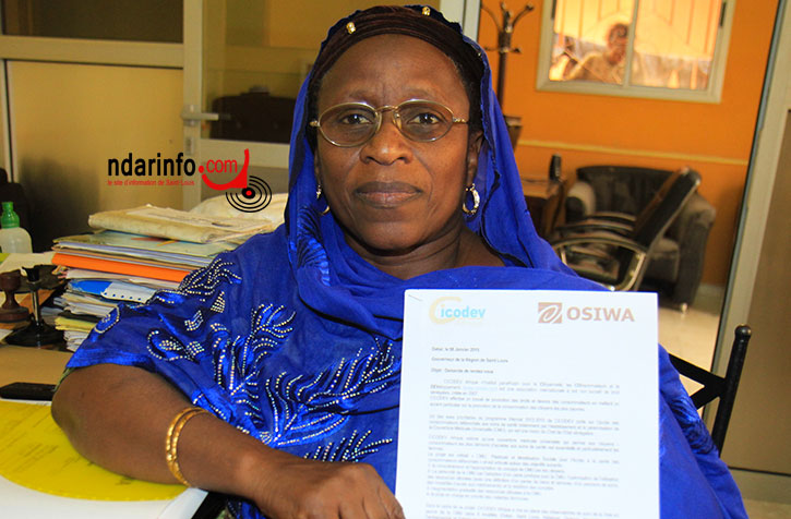 Mme Nafissatou DIOP, point focal de CICODEV à Saint-Louis