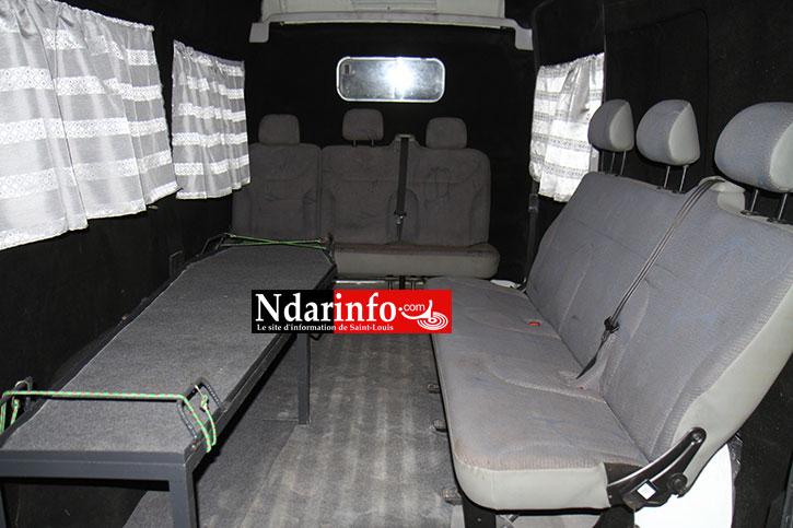 L'intérieur du véhicule.