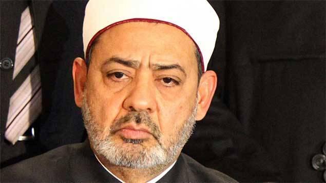 """Le grand Imam d'Al-Azhar, cheikh Ahmed al-Tayeb, a """"vivement condamné"""" l'assassinat par le groupe Etat islamique du pilote jordanie, un """"acte terroriste lâche, qui nécessite la punition prévue dans le Coran pour ces agresseurs corrompus qui combattent Dieu"""". Archives AFP"""